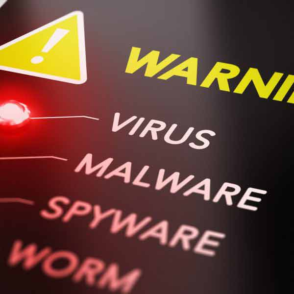 Warning: Virus, Malware, Spyware, Worm