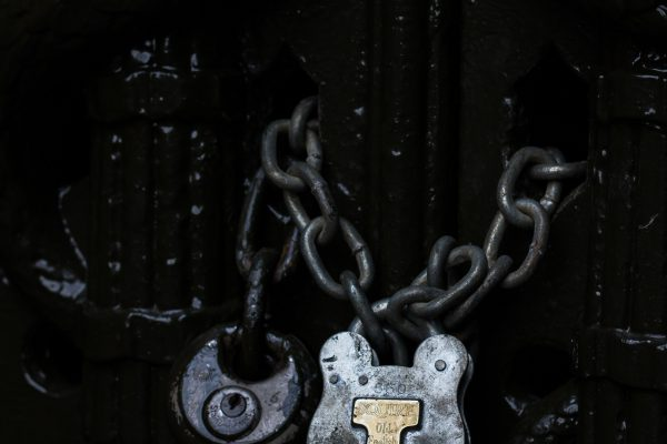 chains with padlocks,